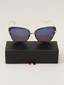 Солнцезащитные Очки С Оправой Кошачий Глаз Thom Browne                                                                                                              серебристый цвет