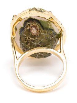 Кольцо С Бриллиантами Ручной Работы KIMBERLY MCDONALD                                                                                                              зелёный цвет