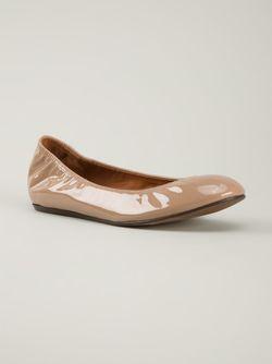 Лакированные Классические Балетки Lanvin                                                                                                              коричневый цвет