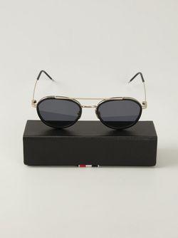 Солнцезащитные Очки В Круглой Оправе Thom Browne                                                                                                              черный цвет