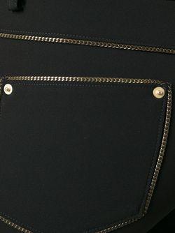 Брюки С Цепочной Отделкой Moschino                                                                                                              чёрный цвет