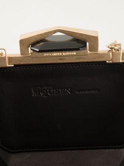 Клатч-Шкатулка С Стиле Ар-Деко Alexander McQueen                                                                                                              чёрный цвет