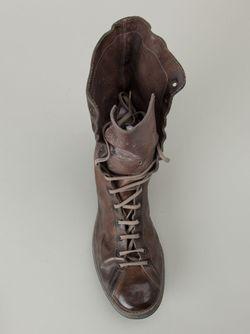 Ботинки С Потёртостями GUIDI                                                                                                              коричневый цвет