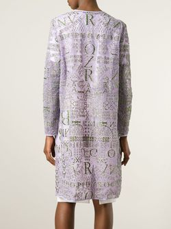 Кардиган Calligraphy Mary Katrantzou                                                                                                              розовый цвет
