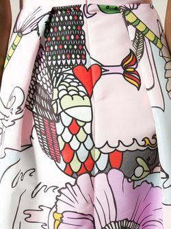 Удлинённая Юбка Midlar Mary Katrantzou                                                                                                              розовый цвет