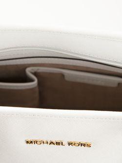 Сумка-Тоут Jet Set Travel Michael Michael Kors                                                                                                              белый цвет
