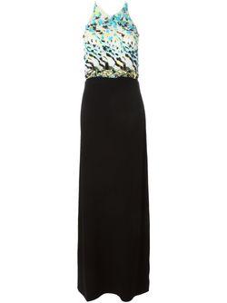 Декорированное Вечернее Платье Roberto Cavalli                                                                                                              чёрный цвет
