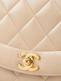 Сумка На Плечо В Рельефную Клетку Chanel Vintage                                                                                                              Nude & Neutrals цвет