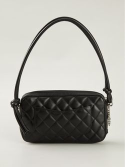 Стеганая Сумка Chanel Vintage                                                                                                              черный цвет