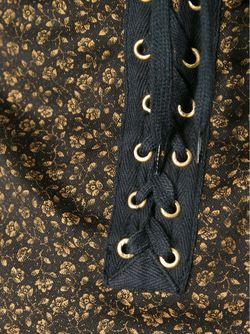 Облегающее Платье С Цветочным Принтом JEAN PAUL GAULTIER VINTAGE                                                                                                              чёрный цвет