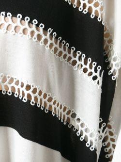 Вязаный Крючком Свитер В Полоску Tsumori Chisato                                                                                                              белый цвет