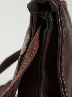Сумка Через Плечо На Молнии GUIDI                                                                                                              коричневый цвет