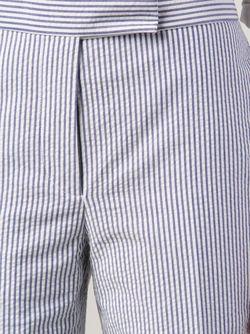 Укороченные Брюки В Полоску Thom Browne                                                                                                              синий цвет