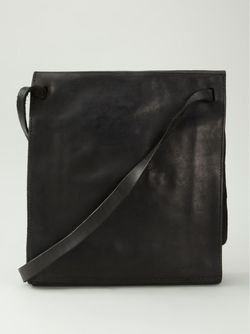 Большая Сумка-Почтальонка GUIDI                                                                                                              чёрный цвет