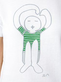 Футболка С Принтом Логотипа SOCIETE ANONYME                                                                                                              белый цвет