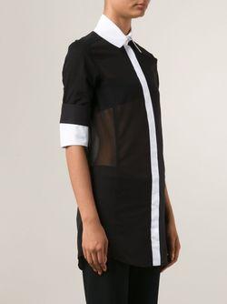 Прозрачная Рубашка С Рукавами По Локоть Ports                                                                                                              черный цвет