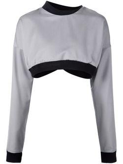 Укороченный Многослойный Топ ODD.                                                                                                              серый цвет
