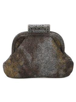 Клатч С Градиентным Эффектом Chanel Vintage                                                                                                              серый цвет