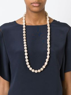 Длинное Ожерелье Из Искусственного Жемчуга Lanvin                                                                                                              Nude & Neutrals цвет