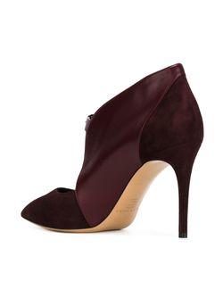 Туфли С Заостренным Носком На Шпильке Casadei                                                                                                              красный цвет
