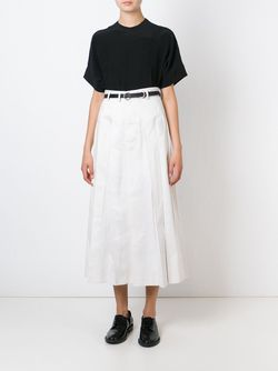 Длинная Плиссированная Юбка Comme Des Garcons                                                                                                              белый цвет