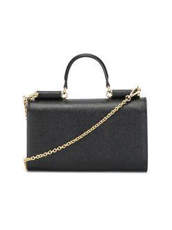 Мини Сумка Через Плечо Von Dolce & Gabbana                                                                                                              черный цвет