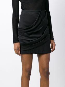 Драпированная Мини-Юбка Balmain                                                                                                              чёрный цвет