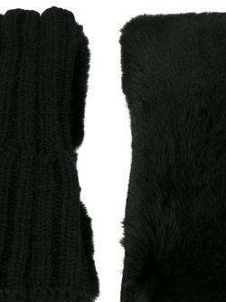 Меховые Митенки Yves Salomon                                                                                                              чёрный цвет