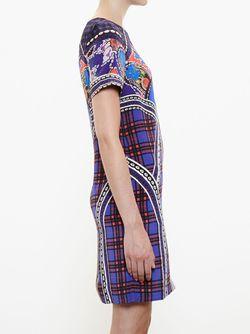 Платье Шифт С Комбинированным Принтом Mary Katrantzou                                                                                                              розовый цвет