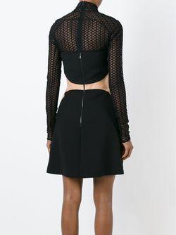 Платье С Панельным Дизайном David Koma                                                                                                              черный цвет