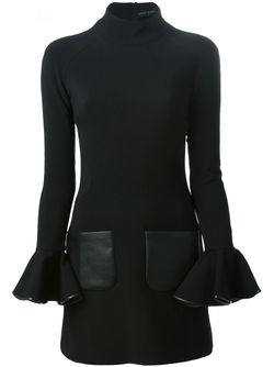 Платье С Расклешенными Рукавами David Koma                                                                                                              черный цвет