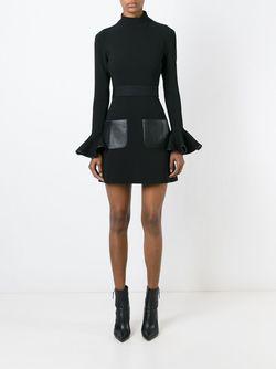 Платье С Расклешенными Рукавами David Koma                                                                                                              чёрный цвет