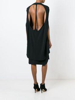 Многослойное Платье-Накидка ESTEBAN CORTAZAR                                                                                                              чёрный цвет
