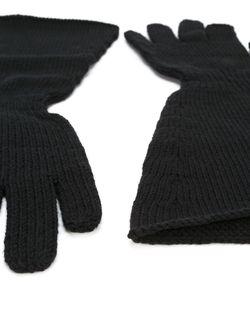 Перчатки С Широкими Манжетами Rick Owens                                                                                                              чёрный цвет