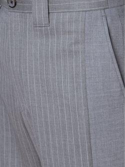 Брюки В Тонкую Полоску MIHARA YASUHIRO                                                                                                              серый цвет