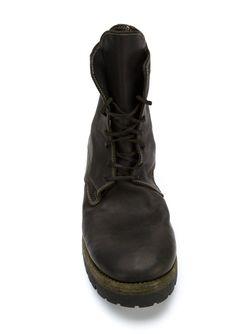 Ботинки На Шнуровке С Эффектом Поношенности GUIDI                                                                                                              черный цвет
