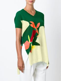 Свитер С V-Образным Вырезом Delpozo                                                                                                              зелёный цвет