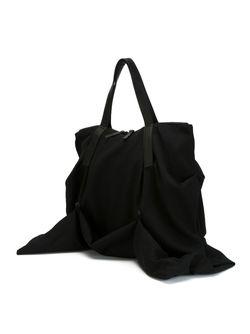 Сумка-Тоут С Драпированными Деталями Yohji Yamamoto                                                                                                              черный цвет