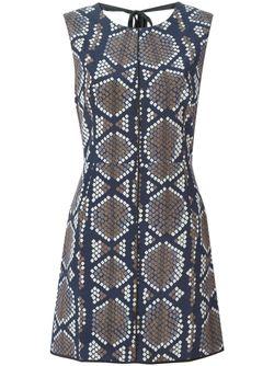 Платье С Панельным Дизайном И Принтом Marc Jacobs                                                                                                              синий цвет