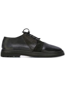Туфли На Шнуровке С Панельным Дизайном Marsell                                                                                                              черный цвет