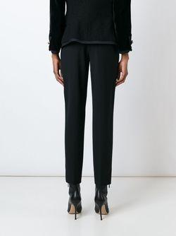 Брюки Кроя Слим Versace                                                                                                              черный цвет