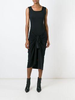 Платье С Узлом Спереди JEAN PAUL GAULTIER VINTAGE                                                                                                              черный цвет