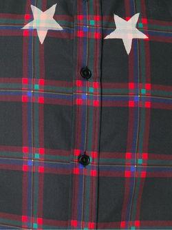 Клетчатая Рубашка Со Звездами Givenchy                                                                                                              черный цвет