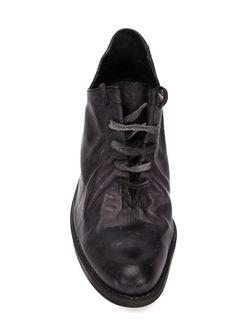 Туфли На Шнуровке С Потертой Отделкой A DICIANNOVEVENTITRE                                                                                                              черный цвет
