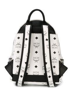 Рюкзак С Принтом Логотипа MCM                                                                                                              белый цвет