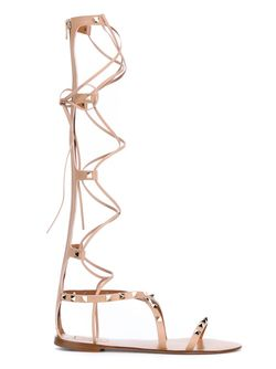 Гладиаторские Сандалии Rockstud Rolling Valentino Garavani                                                                                                              Nude & Neutrals цвет