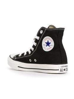 Высокие Кеды С Блестками Converse                                                                                                              черный цвет