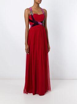 Декорированное Вечернее Платье Alberta Ferretti                                                                                                              красный цвет