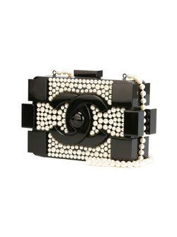 Клатч-Футляр Brick Chanel Vintage                                                                                                              чёрный цвет