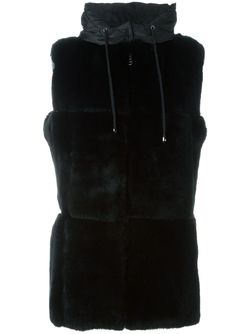 Пиджак Без Рукавов С Капюшоном P.A.R.O.S.H.                                                                                                              черный цвет